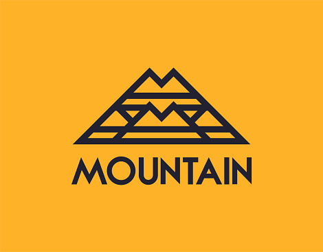 Abstract mountain or letter M