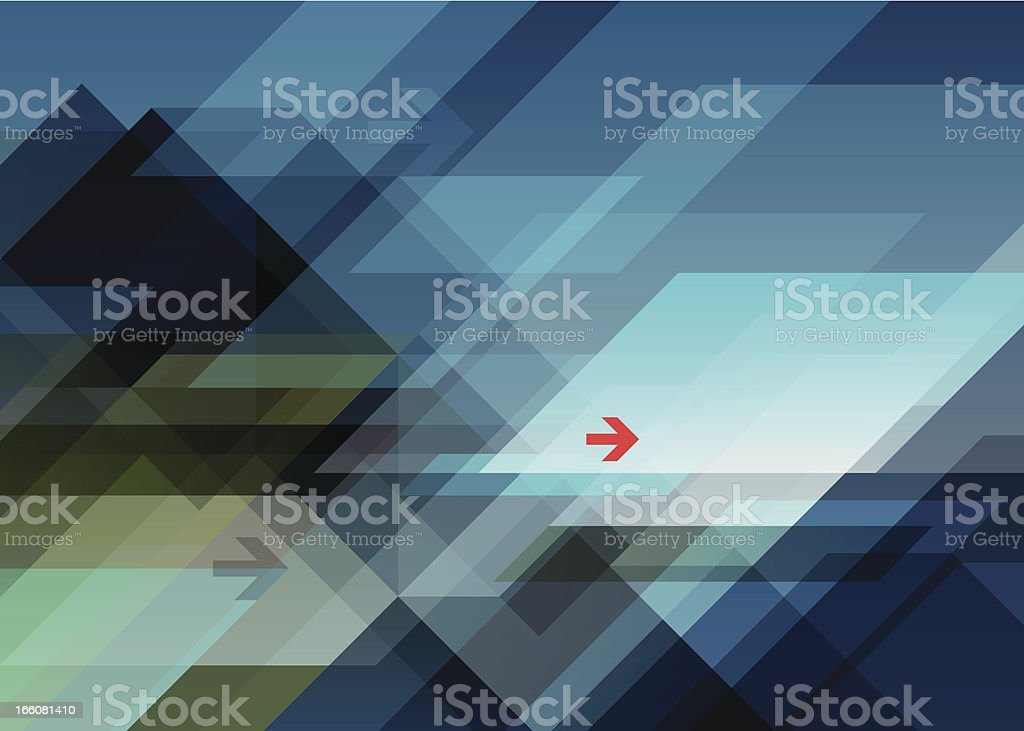 abstract mountains landscape vector art illustration