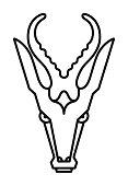 Abstract Mounted Deer Head