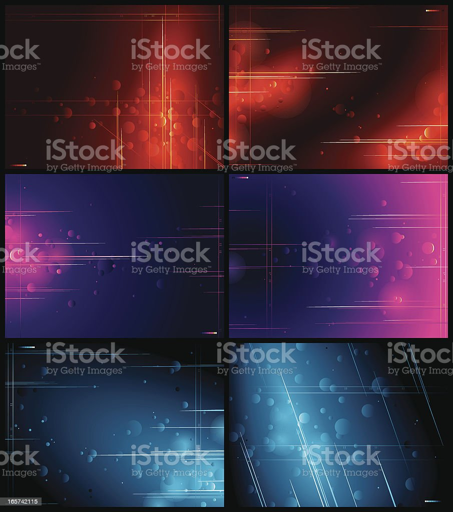 Abstract Multi Background Set royalty-free stock vector art
