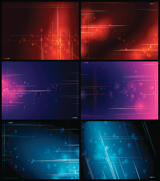 Abstract Multi Background Set vector art illustration