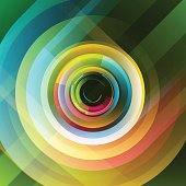 Abstract multicolor background. Abstract background of circles and lines. Vector illustration.