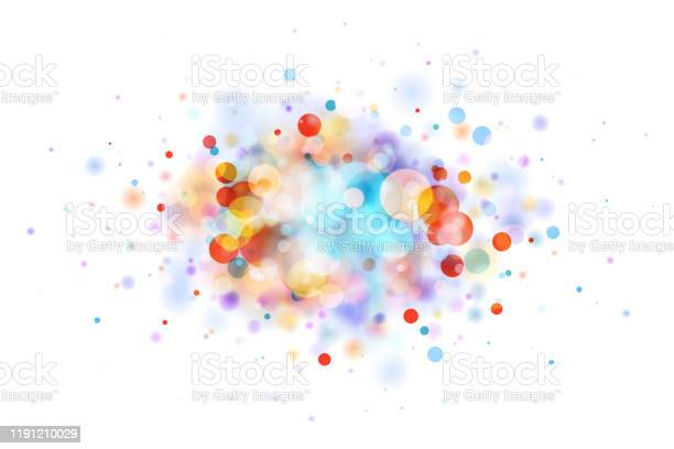 Abstract Multicolor Blob On White Made From Defocused Circles Stock Illustration - Download Image Now