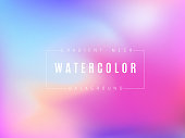 Abstract multicolored bright gradient mesh background. Flow of multicolored watercolor. Modern trendy design. Template for banners, posters and other promotional products.