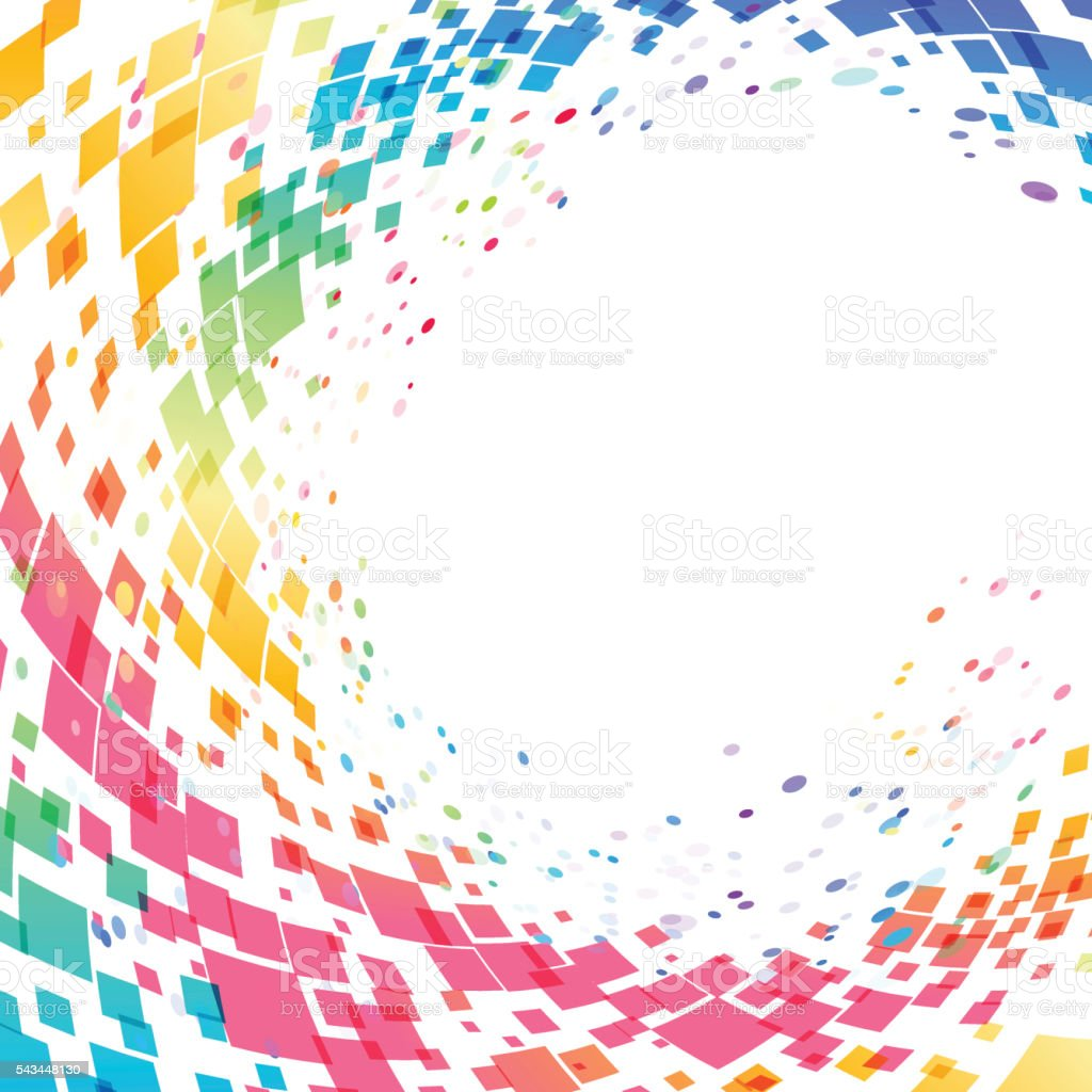 Abstract multicolored circle background vector art illustration
