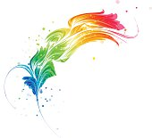 Abstract multicolored element, stylized design object
