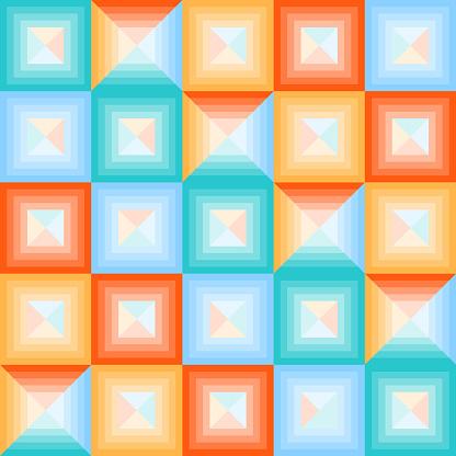 Abstract Multicolored Squares Banner Of Abstract Multicolored Squares - Stockowe grafiki wektorowe i więcej obrazów Abstrakcja