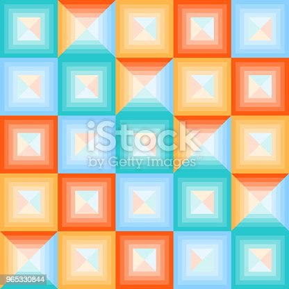 Abstract Multicolored Squares Banner Of Abstract Multicolored Squares Stock Vector Art & More Images of No People 965330844