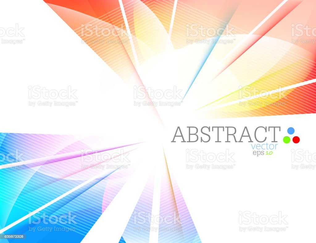 Abstract multicolored vector art illustration