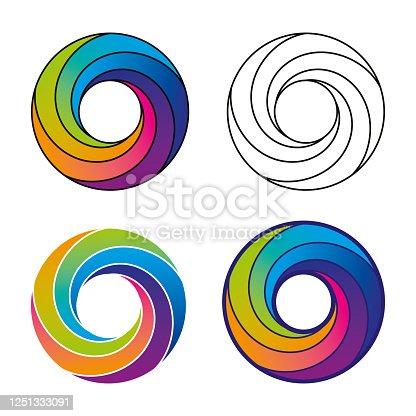 Abstract Multicolored Vortex Swirl Modern Design