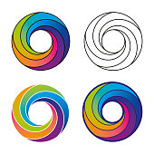 istock Abstract Multicolored Vortex Swirl Modern Design 1251333091
