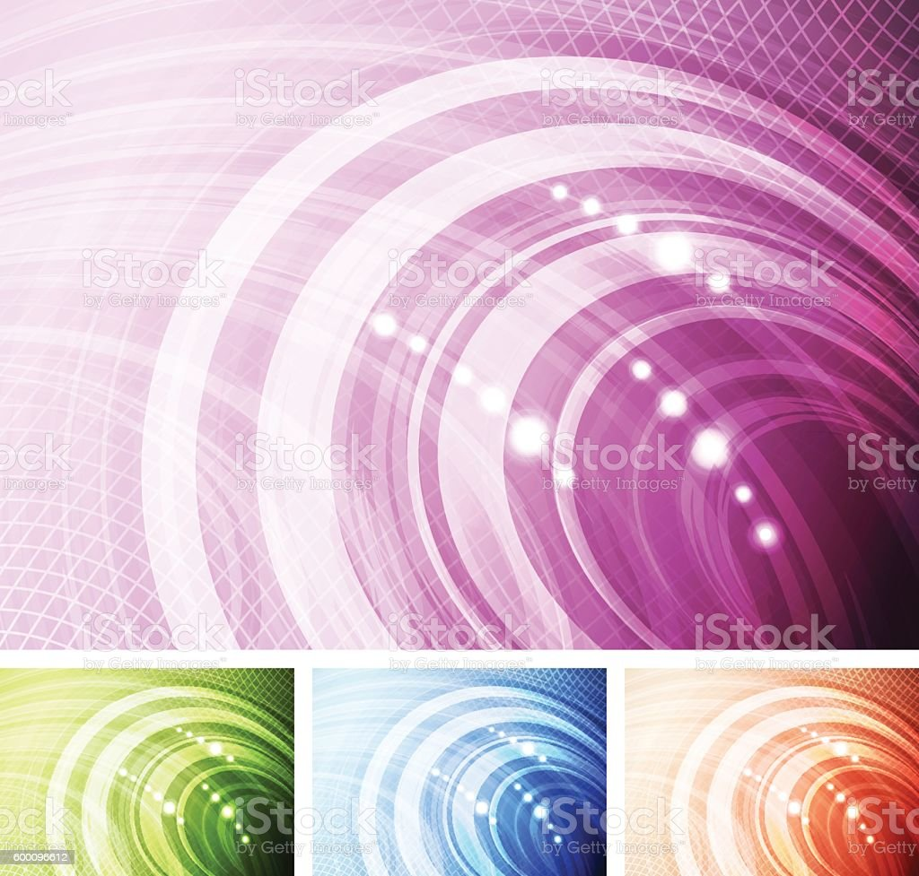 Abstract multi-coloured background set vector art illustration