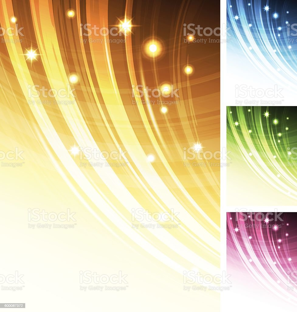 Abstract multi-coloured background set with stars vector art illustration