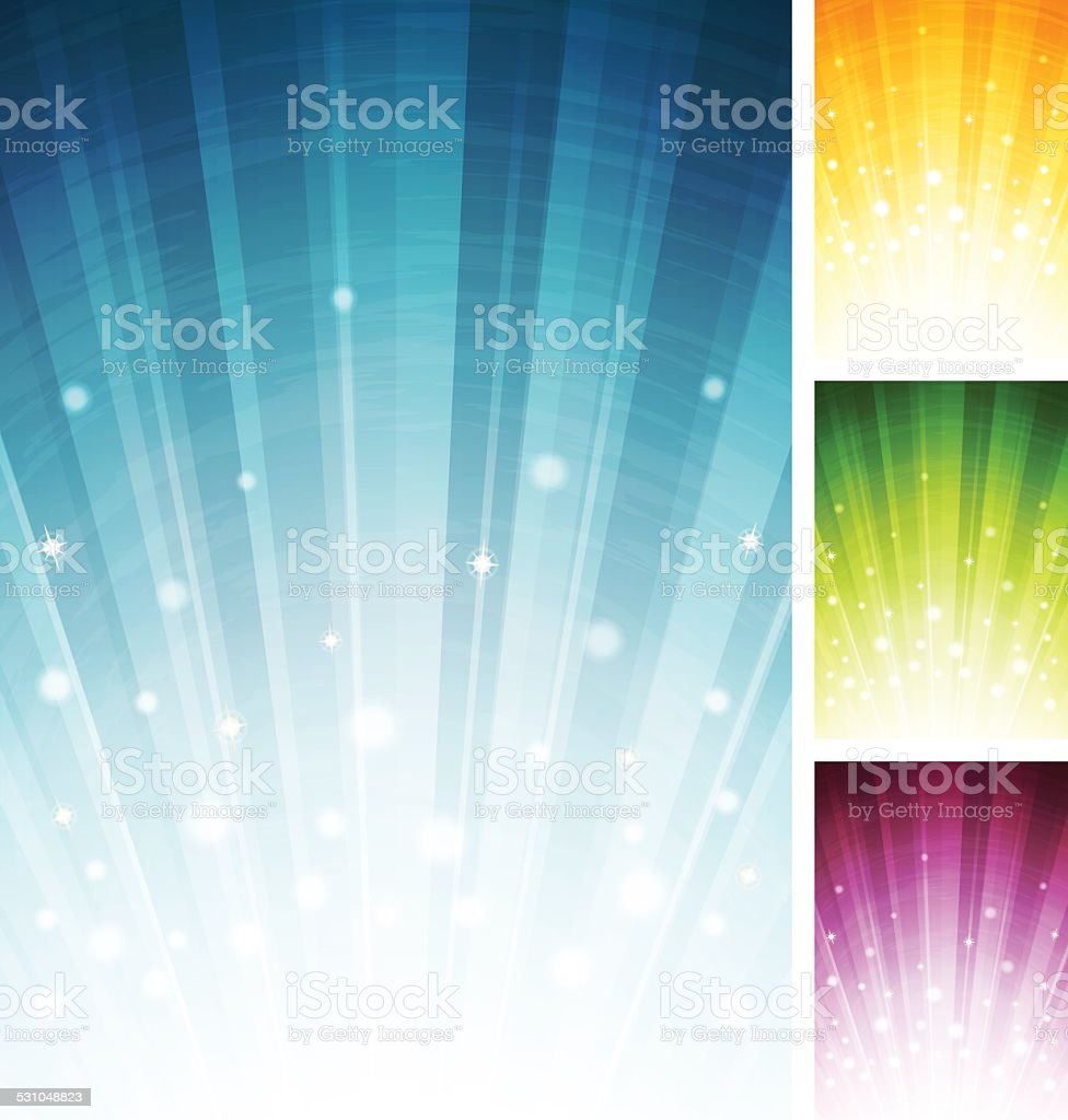 Abstract multi-coloured background vector art illustration