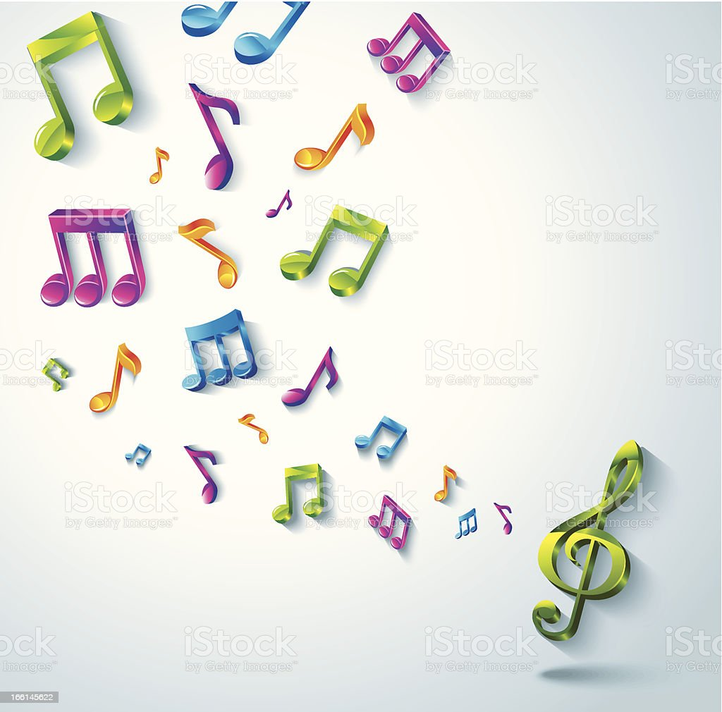Abstract music background. royalty-free stock vector art