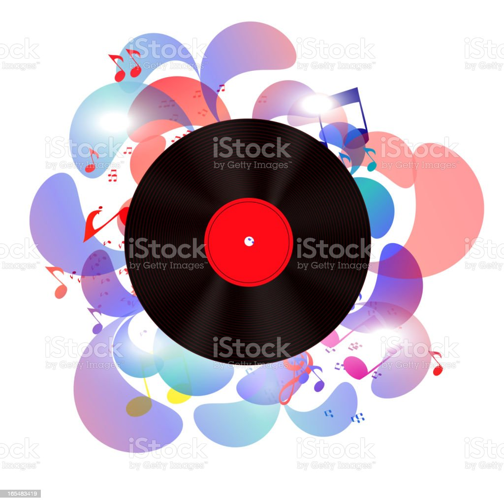 Abstract music background vector illustration for your design vector art illustration