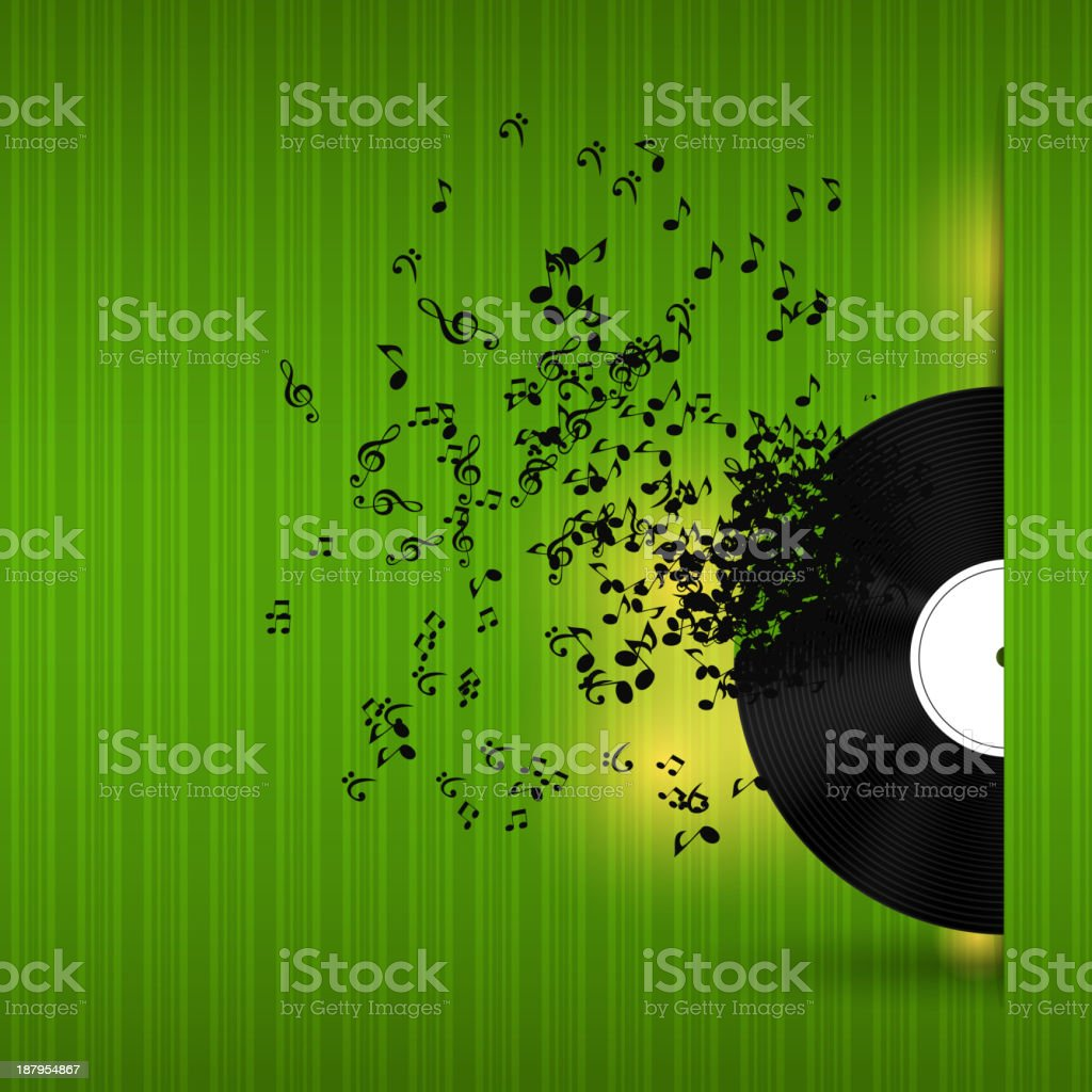 Abstract music background vector illustration for your design royalty-free stock vector art