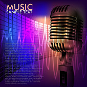 Vector illustration of Beautiful Music Background light, all elements are in separate layers and grouped.