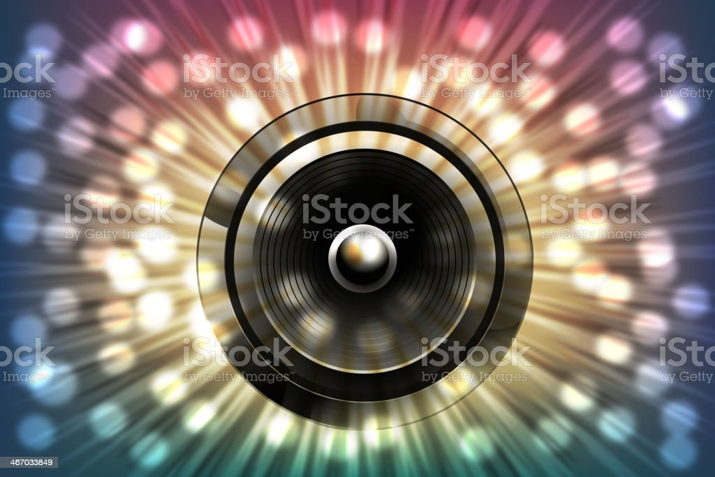 Abstract Music Background with splashy lights royalty-free stock vector art