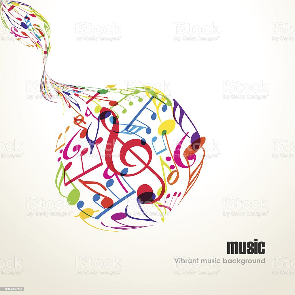 Abstract Music Background With Tunes Royalty Free Stock Vector Art