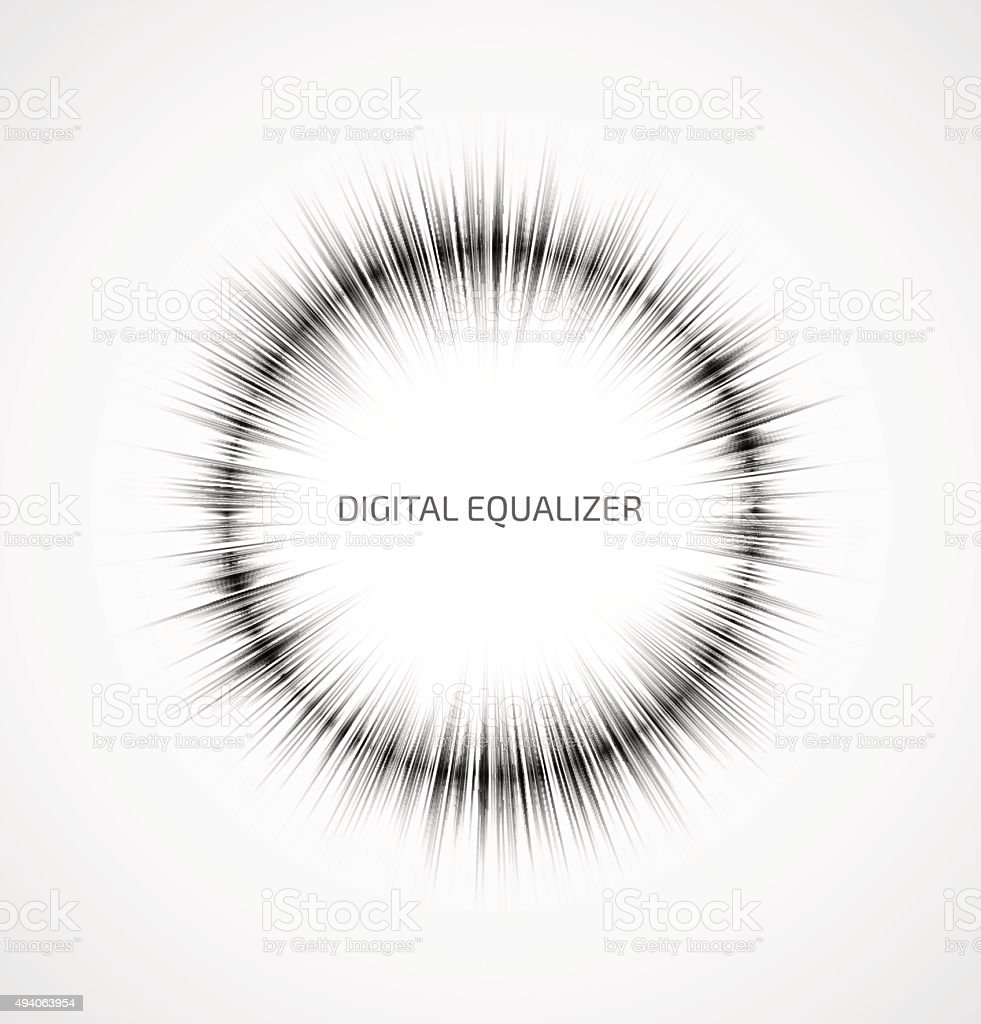 Abstract music equalizer vector art illustration