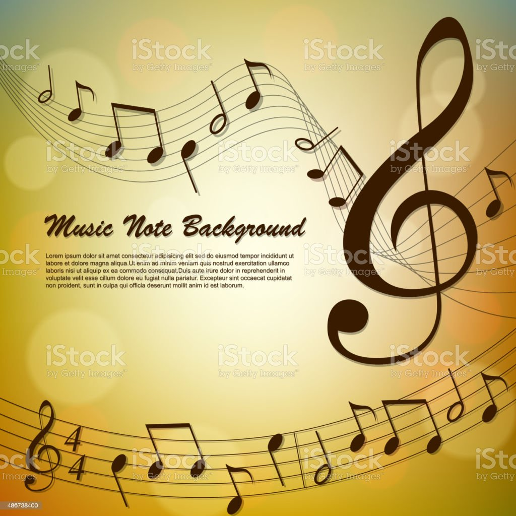 Abstract Music Note Background Stock Vector Art & More Images of ...