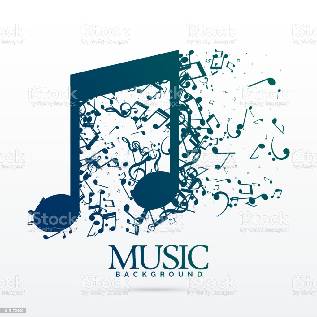 abstract music notes design background