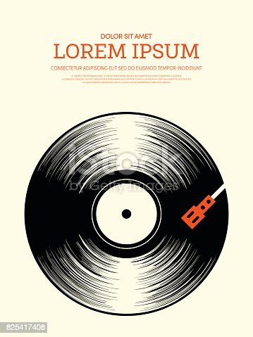 istock Abstract music retro vintage poster background 825417408