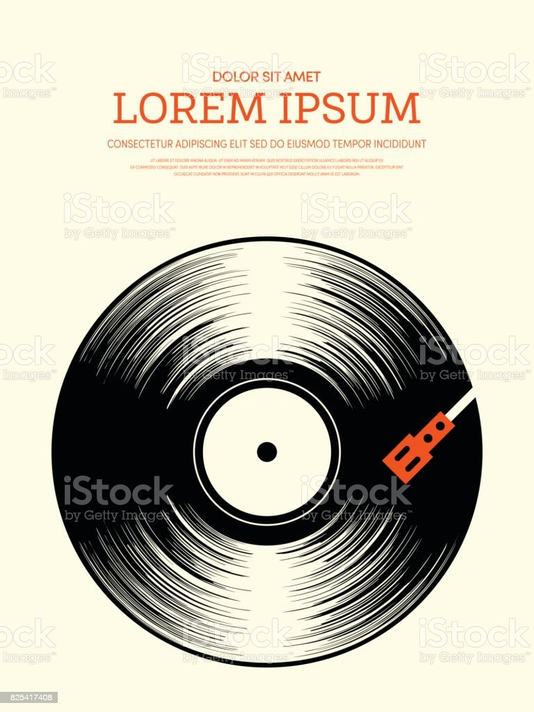 Abstract music retro vintage poster background vector art illustration