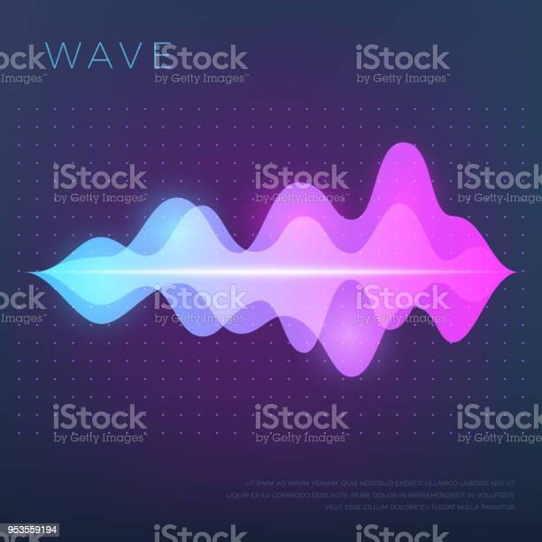 サウンド音声オーディオ波イコライザー波形と抽象的な音楽のベクトルの背景 - アナログレコードのベクターアート素材や画像を多数ご用意