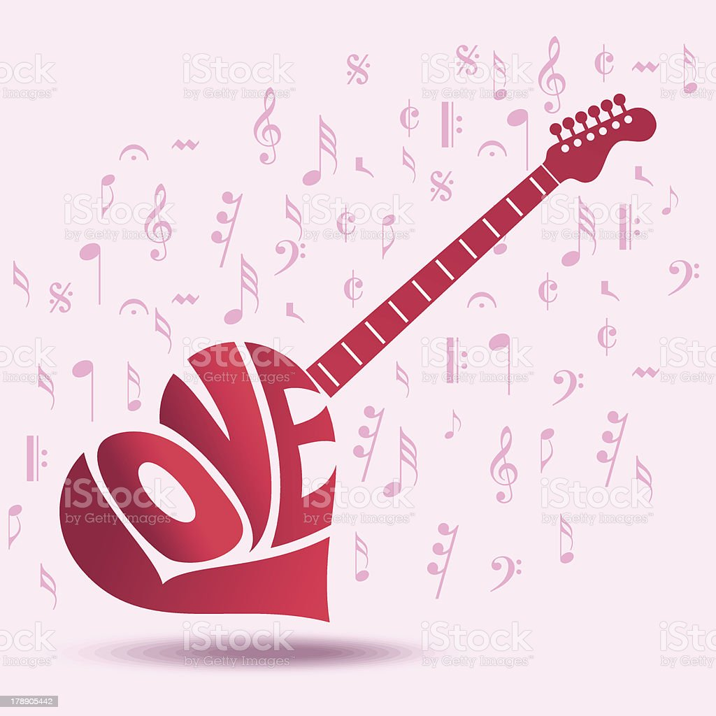 Abstract musical background for love royalty-free stock vector art