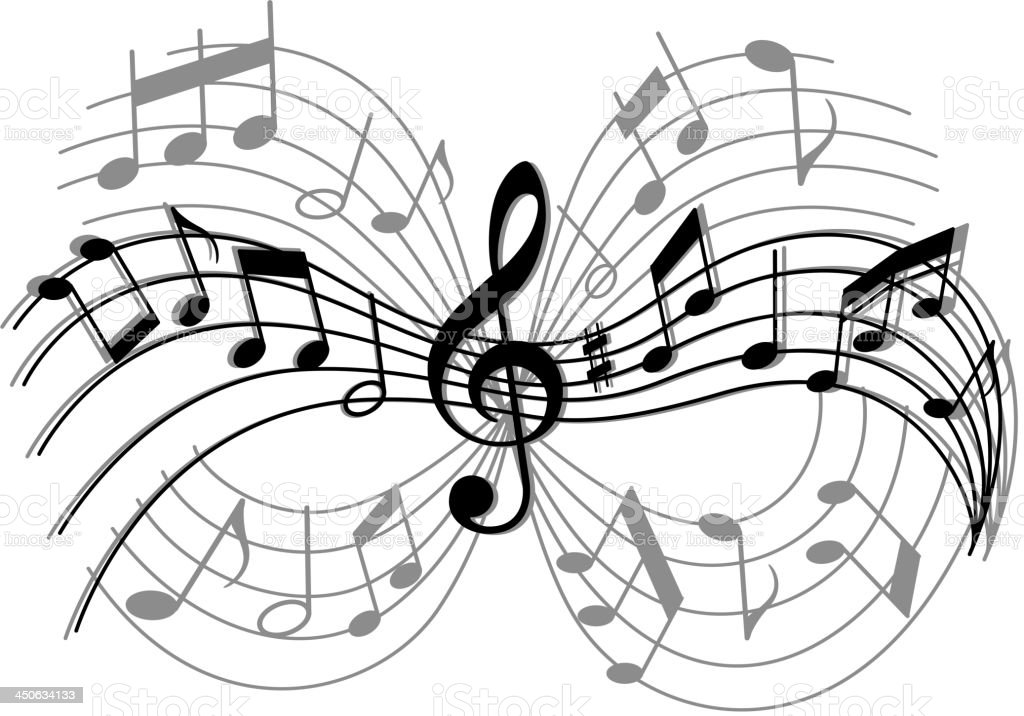 Abstract musical composition royalty-free stock vector art