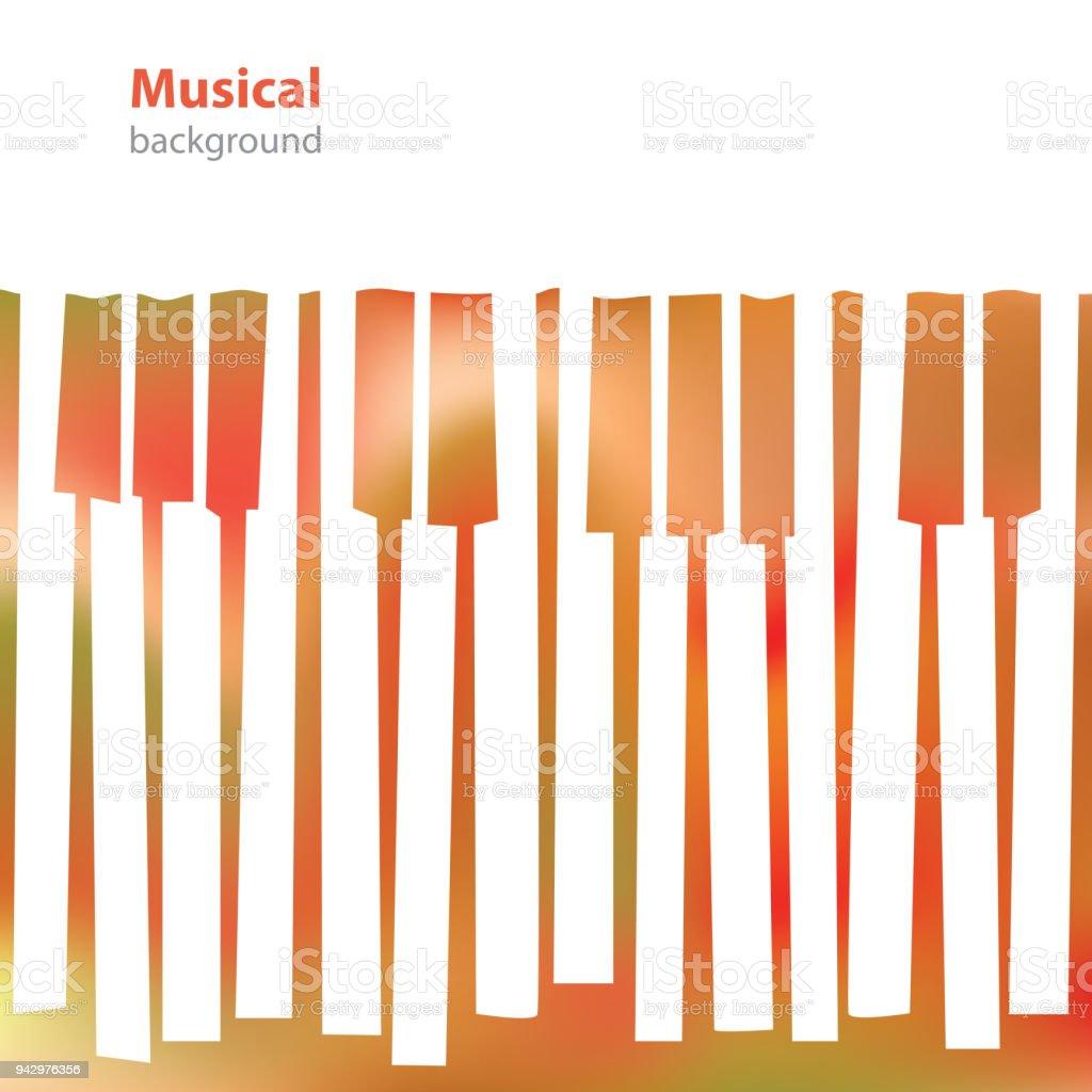 Fond Blanc Touches Du Piano Musical Abstrait
