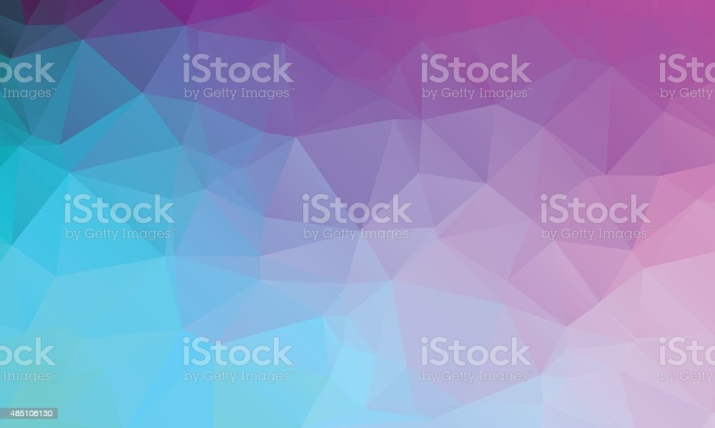 Abstract natural polygonal background. Сolors from turquoise blue to purple vector art illustration