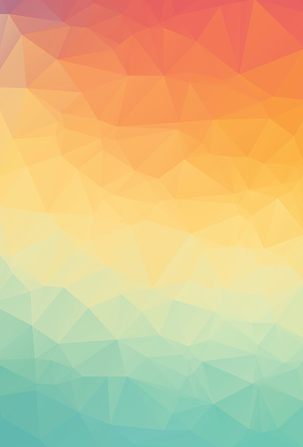 Abstract natural polygonal background. Smooth spring colors orange to green. Vector illustration