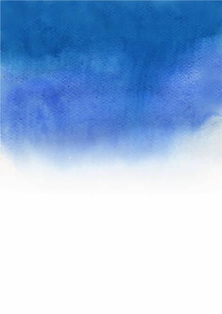 抽象海軍藍漸變背景水彩手繪。 - 海軍藍 幅插畫檔、美工圖案、卡通及圖標