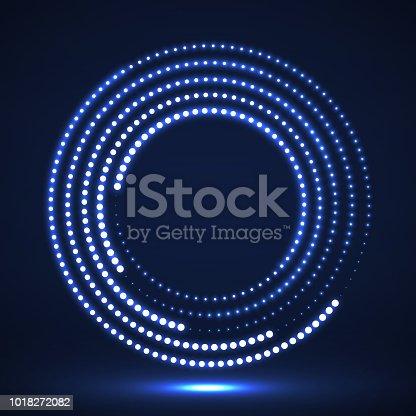 Ball, Shaped, Spotted, Logo, Halftone effect, Circle, Geometric Shape, Point, Dot, Glow, Technology
