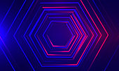 istock Abstract neon dotted shapes illustration 1289327167