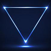 Neon, Glitter, Light, Shadow, Triangle, Line