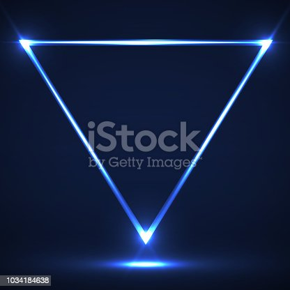 Neon, Glitter, Light, Shadow, Triangle, Line
