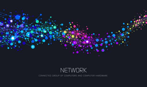 抽象的なネットワーク背景 - ネットワーク点のイラスト素材/クリップアート素材/マンガ素材/アイコン素材