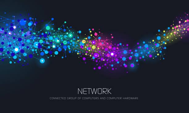 Abstrakte Netzwerk Hintergrund – Vektorgrafik