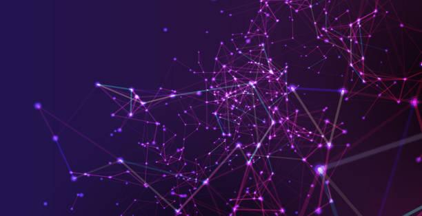 Hintergrund des Netzwerkes – Vektorgrafik