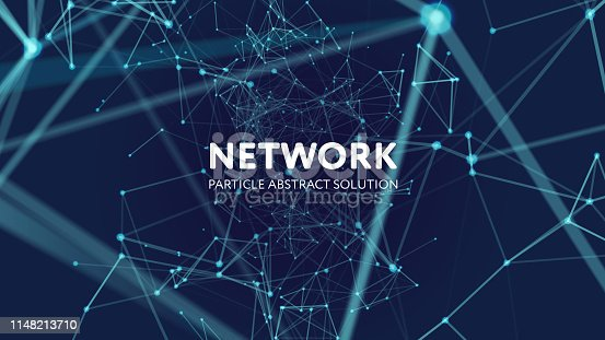 Abstract vector illustration of network. File organized  with layers. Global color used.