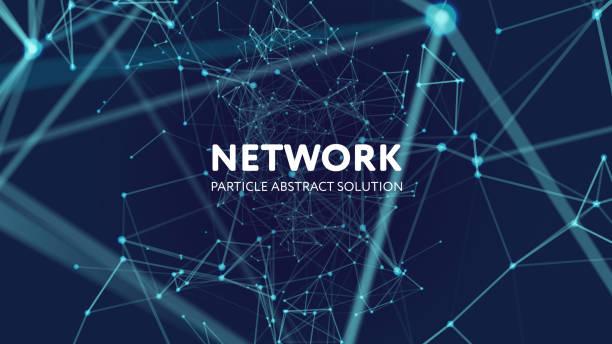 abstrakcyjne tło sieci - sieć komputerowa stock illustrations