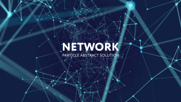 abstract network background - connections abstract stock illustrations