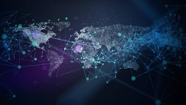 abstrakcyjne tło sieci - globalny stock illustrations