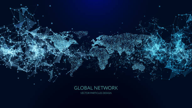 abstract network background - globalny stock illustrations