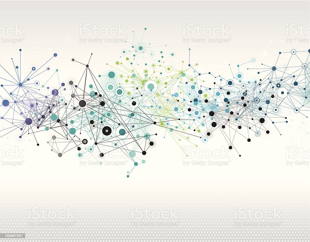 Abstract Network Background Abstract network background - layered illustration with global colors. Eps 10 with transparency elements. Additional AI file is included in zip file. Abstract stock vector