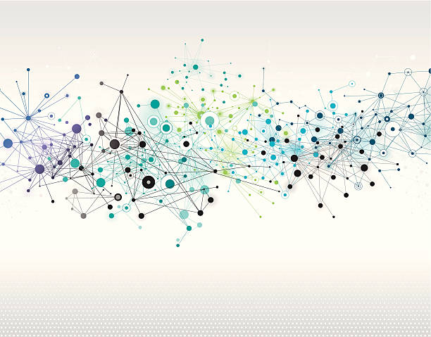 abstract network background - acute angle stock illustrations